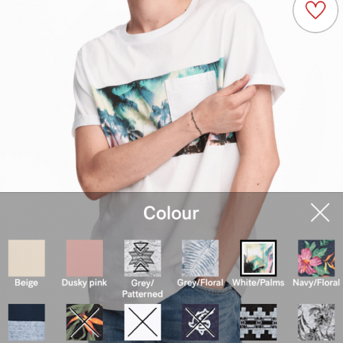 ecommerce app colour product drop down