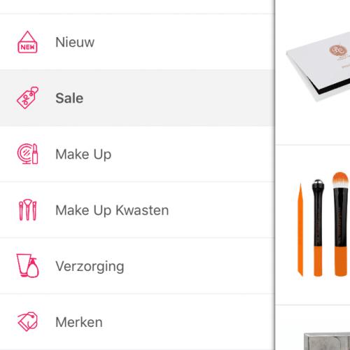 ecommerce app navigation