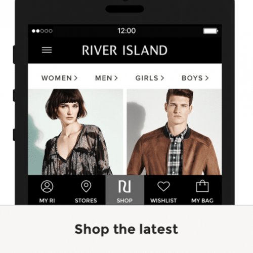 river island ecommerce app example
