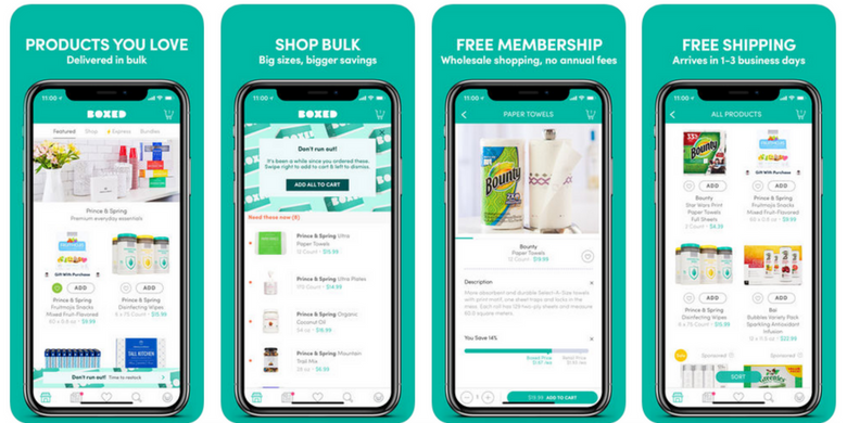 Boxed app on of the top ecommerce apps for 2021