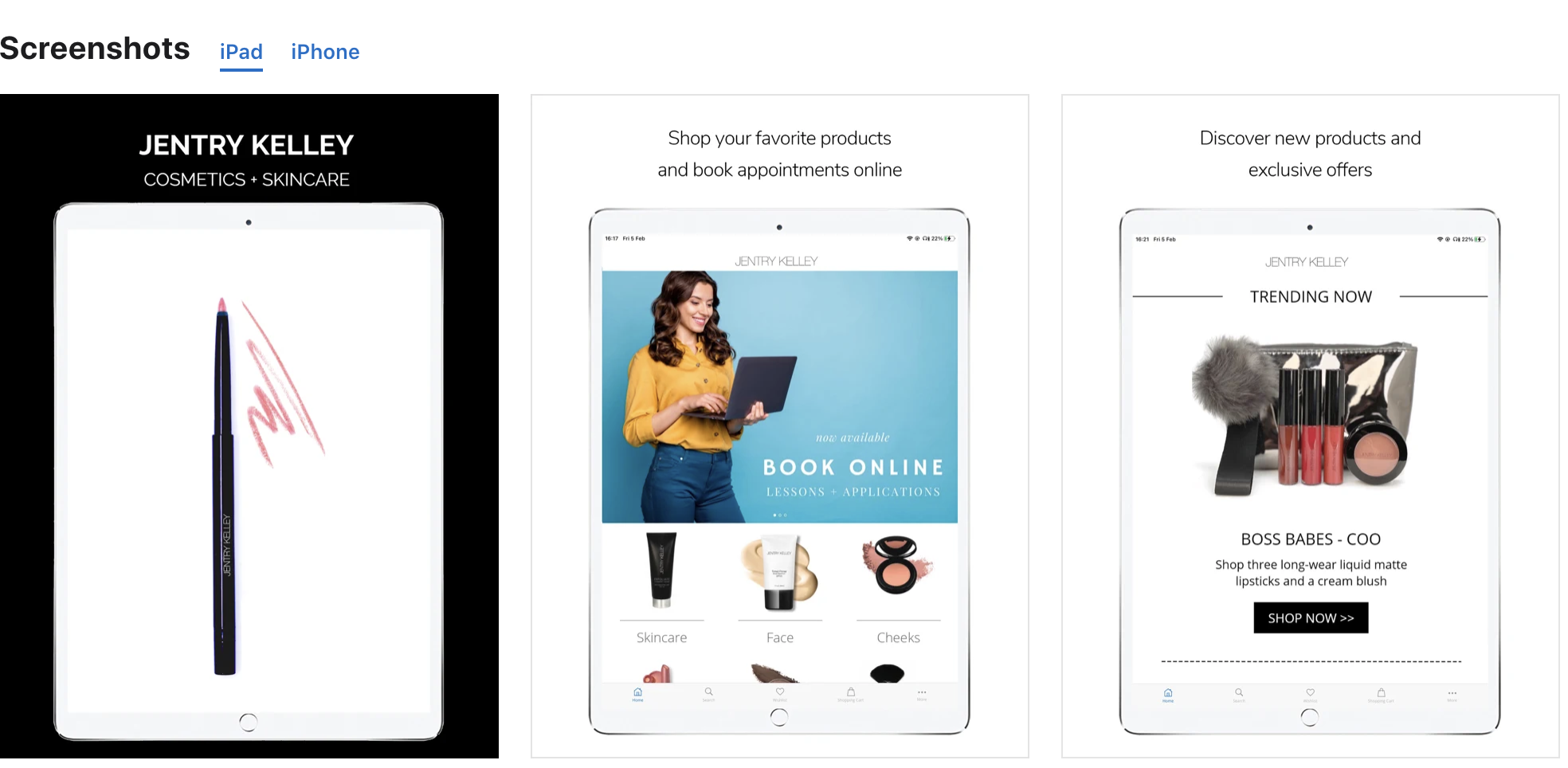 top ecommerce apps jentry cosmetics app