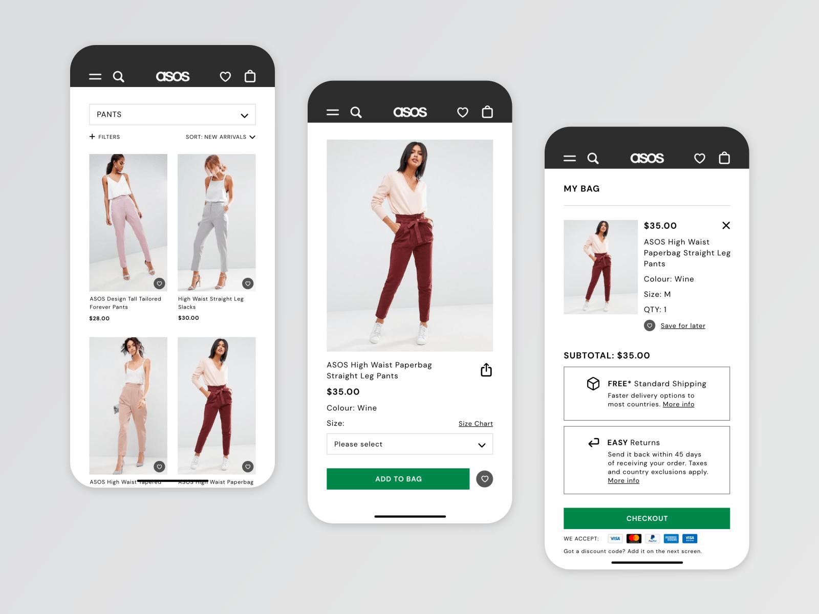 asos app checkout feature top ecommerce app retail app