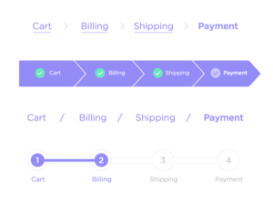 mobile checkout flow